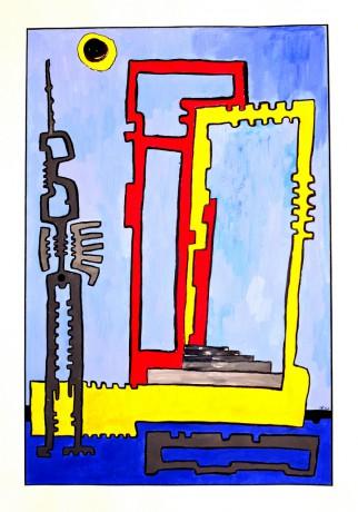 50x70 cm, karton, akril, tus, 2003