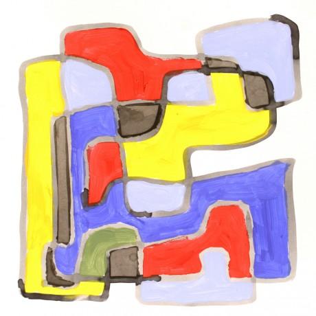 70x70 cm, papír, akril, 2002