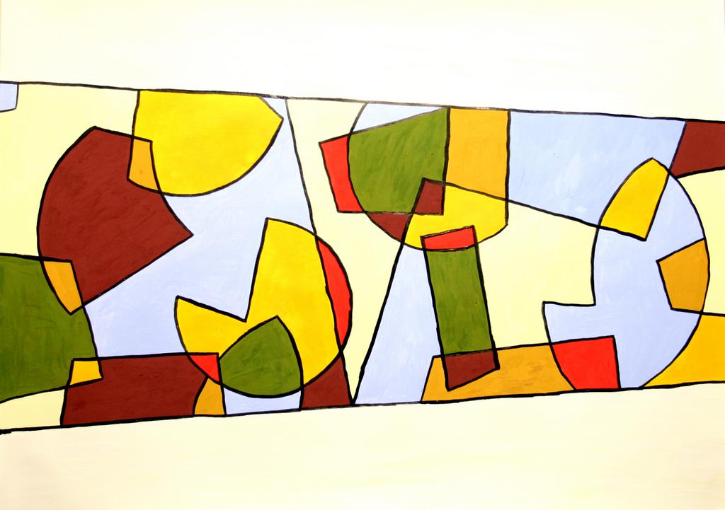 100x70 cm, karton, akril, tus, 2006