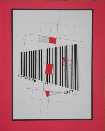 Kódolt síkok, 40x50 cm, papír, tus, 1997