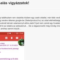 Csaló weboldalak