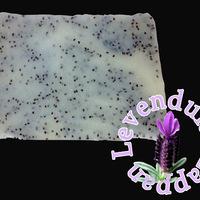 Levendula szappan mákszemekkel