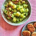 Medvehagymás-citromos krumplifőzelék FecNuggets-szel