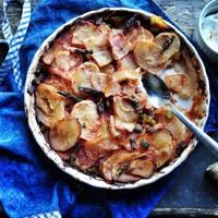 Paradicsomso-spárgás krumplika