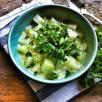 Lime-os joghurtos karalábéfőzelék
