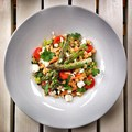 Csicseriborsós, köleses saláta