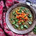 Currys-sárgarépás lencsefőzelék