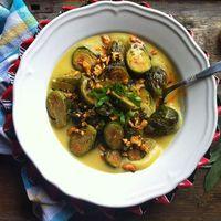 Currys sültkelbimbó-főzelék zsályás kesuval