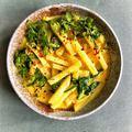 Currys-spenótos karalábéfőzelék