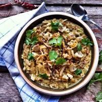 Édesköményes-currys káposztafőzelék