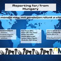 Angol nyelvű kerekasztal-beszélgetés külföldi tudósítókkal február 22-én