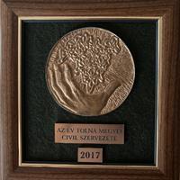 Az Év Tolna Megyei Civil Szervezete díjátódó