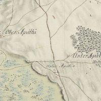 korabeli Szedres környéki térképek