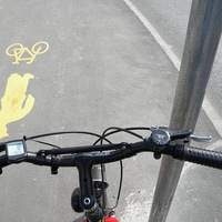 Biciklis nyárson, véröntettel
