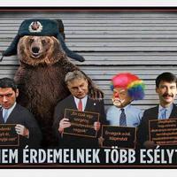 Orbán Viktor az orosz medve baráti ölelésében