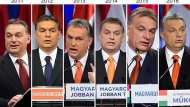 Orbán Viktor beszédet mond: Egy ország leértékelése