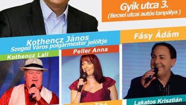 Mesterhármas Szegeden: Lali, István, János