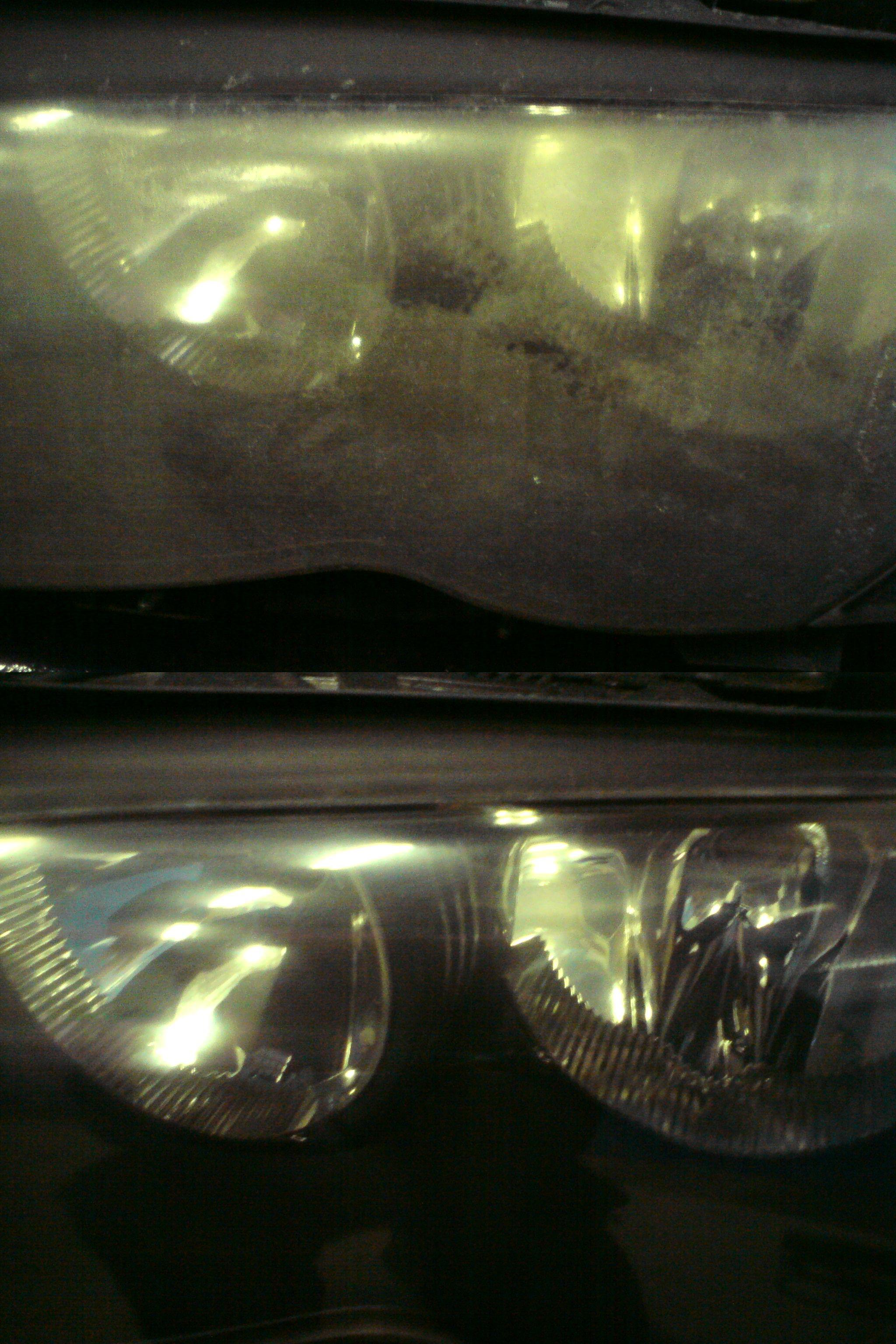 BMW Fényszóró polírozás