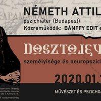 Művészet és pszichoanalízis címmel előadás  lesz Dosztojevszkijről