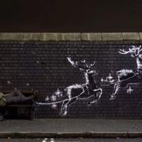 Banksy karácsonyi graffitije