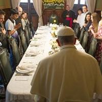 Utolsó vacsora helyett élményebédre készül Ferenc pápa