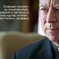 Beer Miklós püspök: Elgettósodott az egyház, megborult az egyensúly