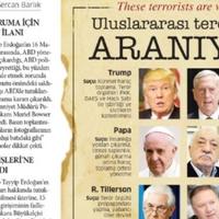Terroristának nevezi a pápát a török kormánypárti lap