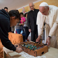 Csocsózás Ferenc pápával