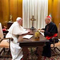 Ferenc pápa ma fogadta Erdő Péter bíborost