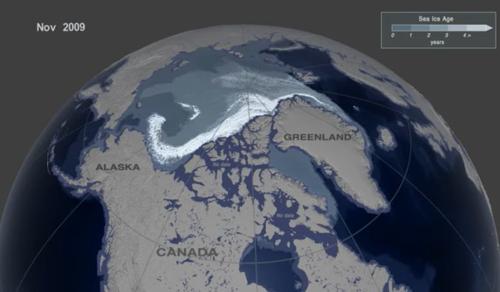 35 év, 2 percben - Videó a sarkvidéki jég olvadásáról