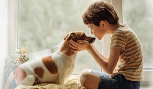 Egy szőrös barát segített a kisfiúnak először beszélni
