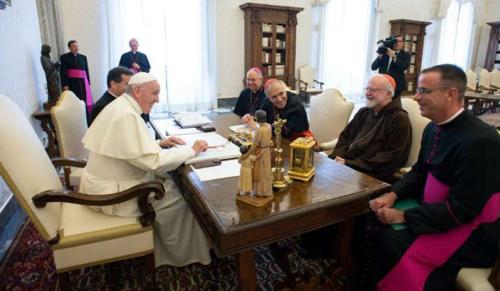 Gyümölcsöző volt a pápa és az amerikai püspökök vezetőjének találkozója