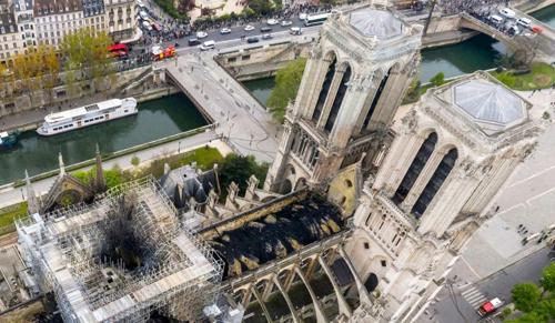 Rövidzárlat okozhatta a tüzet a párizsi katedrálisban