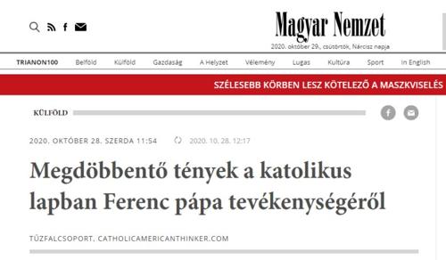 Miért áll be a pápagyalázók kórusába a kormánylap?