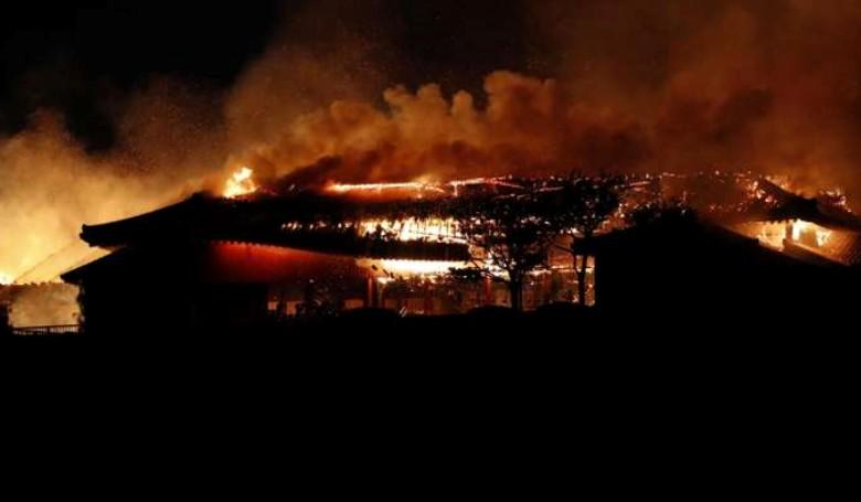 Világörökség része lett a tűz martaléka Japánban