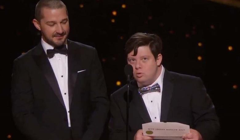 Down-szindrómás színész az Oscar-gálán