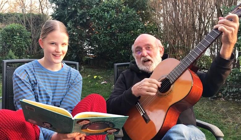 Irtó jó dallal pusztítja a fertőzést Gryllus Vilmos és a lánya