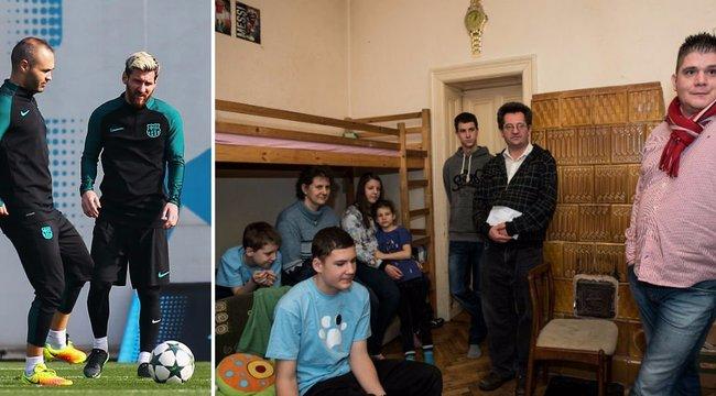 Magyar családon segített Messi és Iniesta