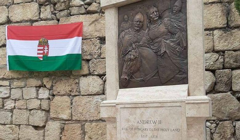 II. András király domborművét avatták fel Izraelben keresztes hadjáratának 800. évfordulóján
