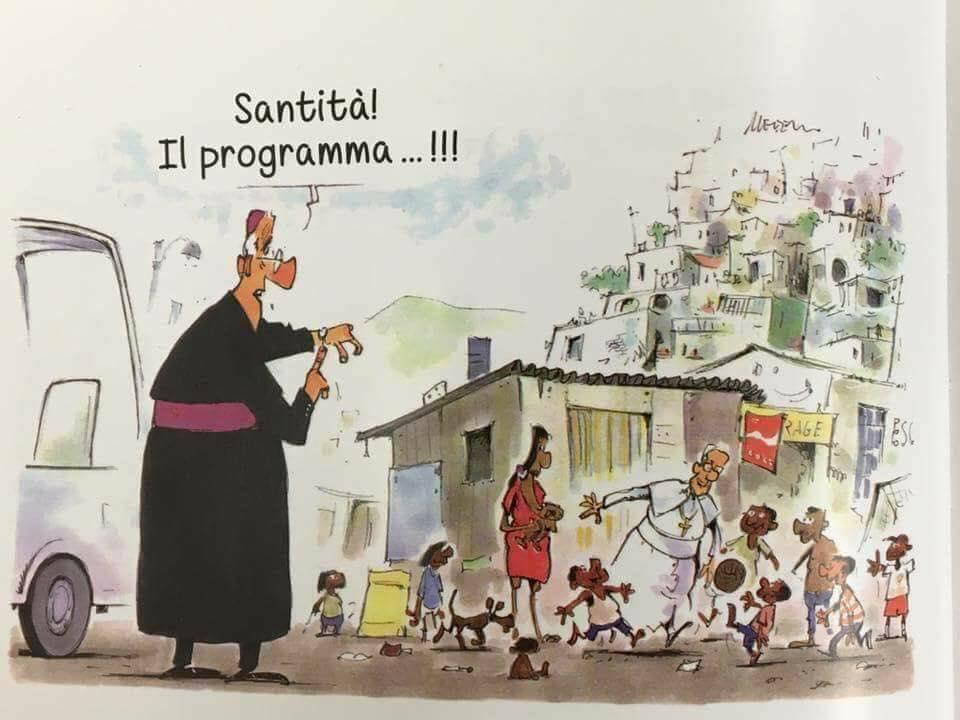 Szentatyám! Kezdődik a programja...!!!