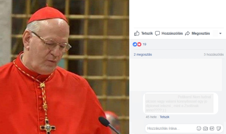 Van-e Erdő Péternek Facebook oldala?
