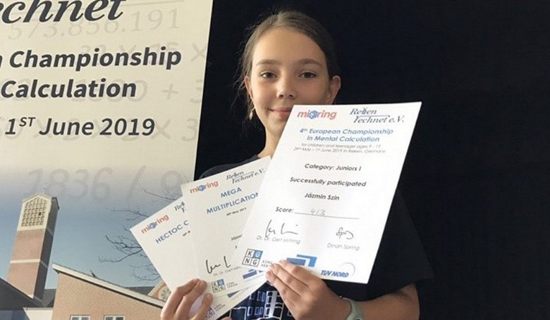 Mentális matematika: tízéves magyar fejszámoló lány sikere