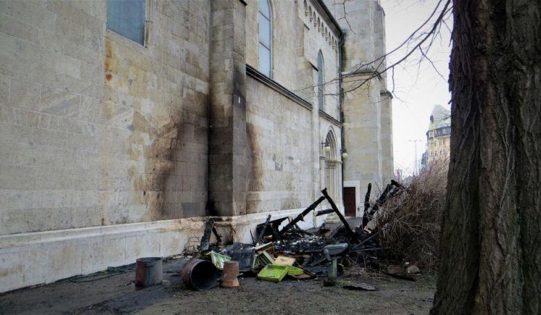 Majdnem leégett egy templom Budapesten