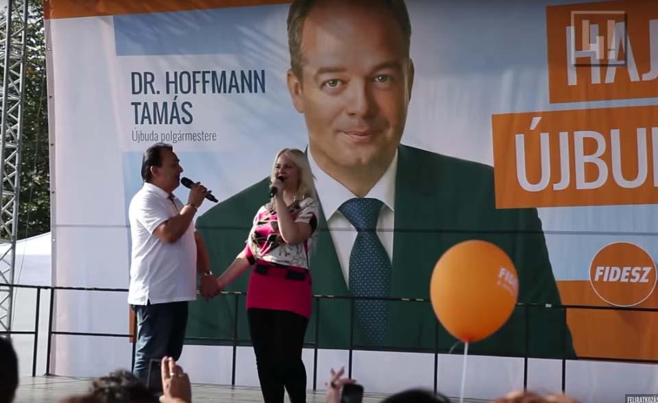 Fásy Ádám és Zsülike mint Hoffmann Tamás legfontosabb kampányarca