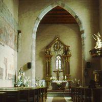 Gyönyörű Szent László freskósorozat ékesíti Tereske templomának falait