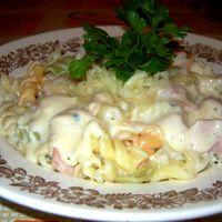 Sonkás-sajtszószos durum tészta