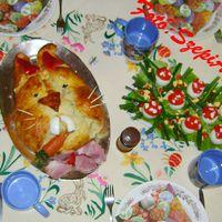 Cipóban sült sonka a húsvéti asztalra