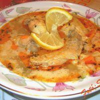 Tejszínes tárkonyos csirkeszárny-leves, vajas galuskával