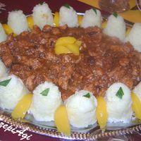 Gyümölcsös (aszalt szilva, aszalt áfonya, alma) pulykaragu, jázmin rizzsel