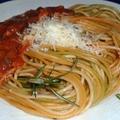 Trikolor spagetti milánói módra